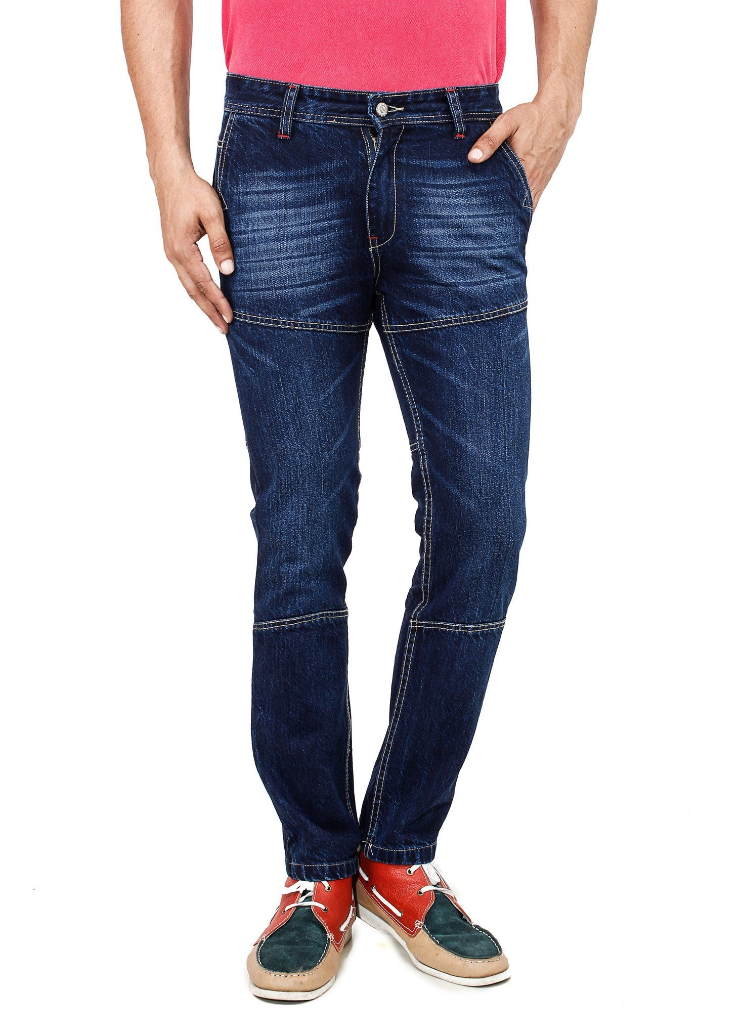 Graded Blue Jeans front view