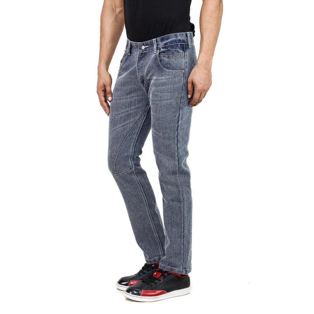 Stripped Ash Gray Jeans side view