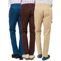 Regular Fit Cotton Trousers Pack of 3 Punto