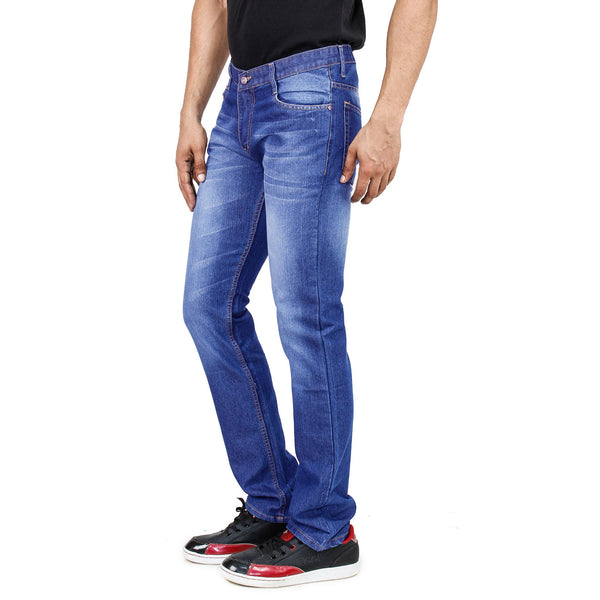 Snowy Uber Blue Cotton Denim - uber-urban