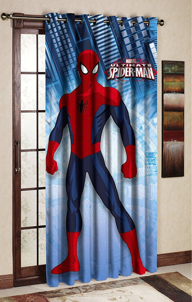 Spider Man Blue Door And Window Curtain