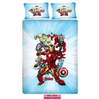 Avenger Fighters Queen Size Bedsheet With 2 Pillow Covers