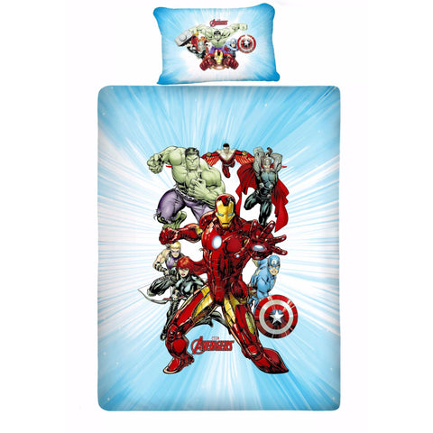 Avenger Fighter Single Bedsheet with 1 Pillow Cover
