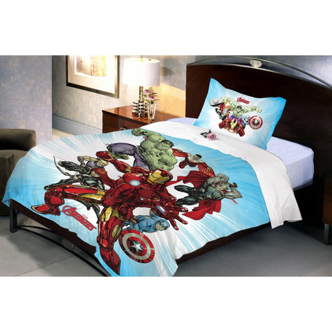 Avenger Fighter Single Bedsheet with 1 Pillow Cover - Über Urban Bedsheet