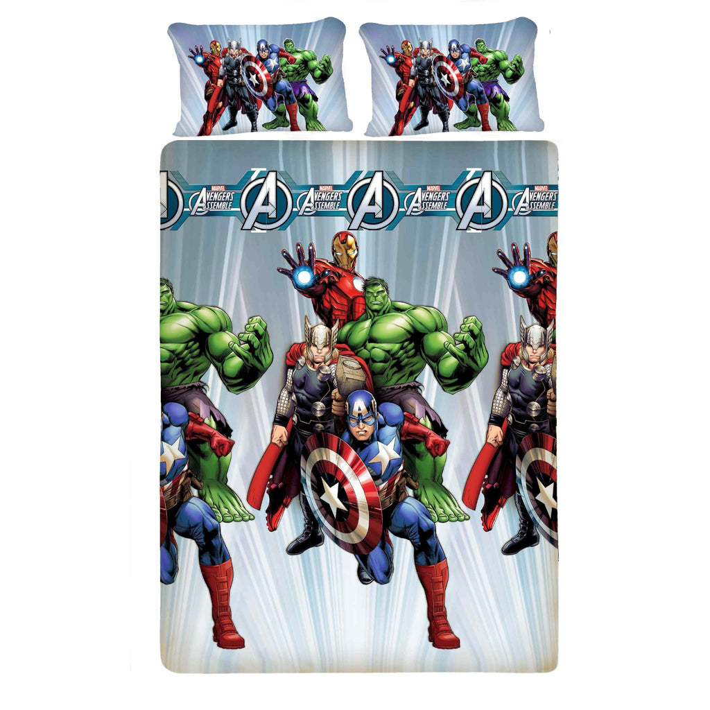 Avenger Fighter Bed Sheet And Pillow Covers (Queen) Top View