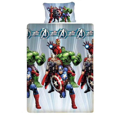 Avenger Fighter Microfiber Bed Sheet And Pillow Cover (Single)