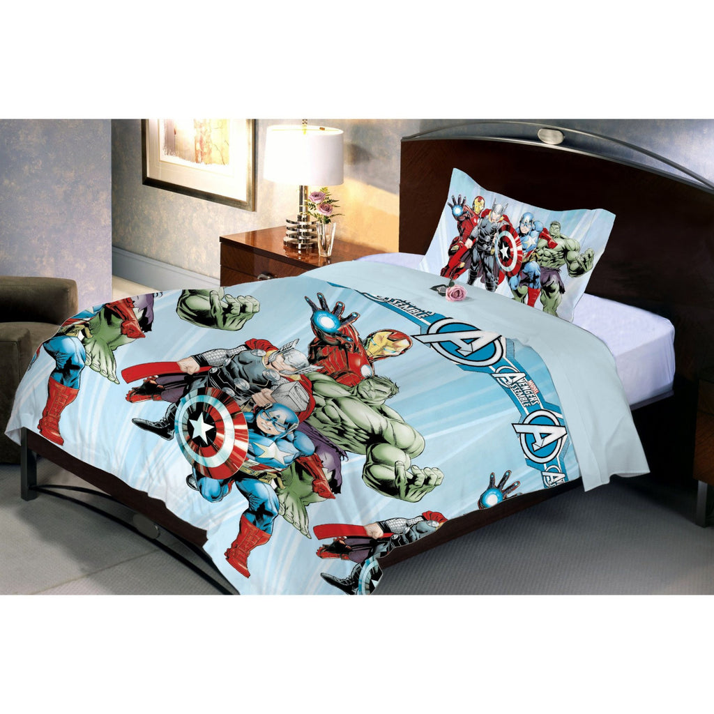 Avenger Fighter Microfiber Bed Sheet And Pillow Cover (Single) - Über Urban Bedsheet