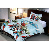 Avenger Fighter Microfiber Bed Sheet And Pillow Cover (Single) - uber-urban