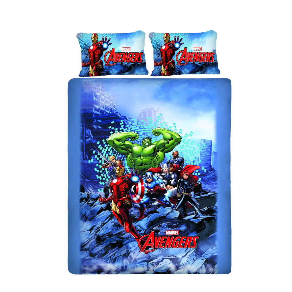 Avenger Sea Fighter Double Bedsheet With 2 Pillow Covers - Über Urban Bedsheet