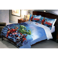 Avenger Sea Fighter Double Bedsheet With 2 Pillow Covers