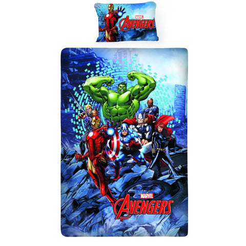 Avenger Sea Fighter Double Bedsheet With 1 Pillow Cover
