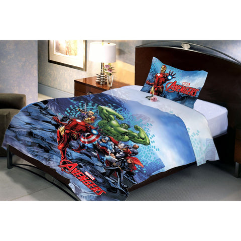 Avenger Sea Fighter Double Bedsheet With 1 Pillow Cover - Über Urban Bedsheet
