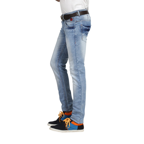 Cloudy Sky Cotton Stretchable Jeans For Men (Slim Fit) - uber-urban
