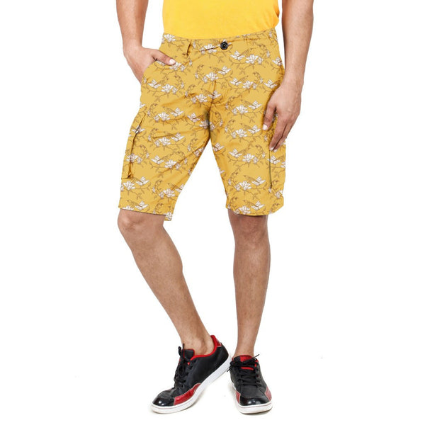 Uber Yellow Garden Shorts front view