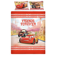 Disney Cars Friends Cotton Double Bedsheet With 2 Pillow Covers - Über Urban Bedsheet