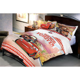 Disney Cars Friends Cotton Double Bedsheet With 2 Pillow Covers - uber-urban
