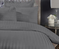 Super King Charcoal Bedsheet with 4 Pillow Covers