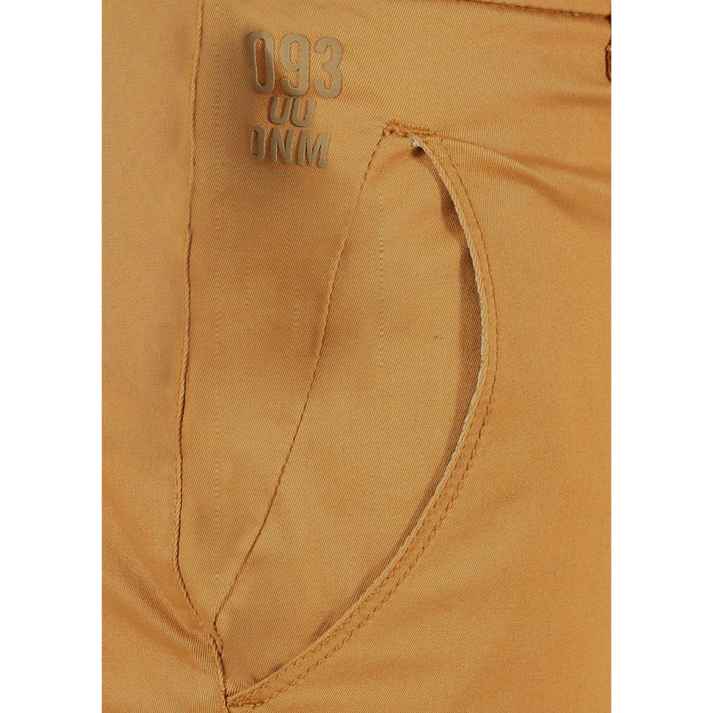 Uber Golden Brown Cotton Twill Elastene Trouser close up view