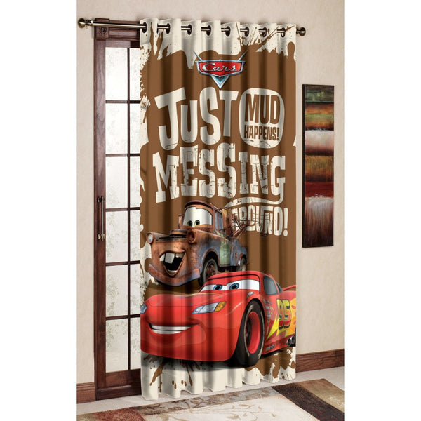 Mud Racer Polyester Disney cartoon Door and Window Curtain
