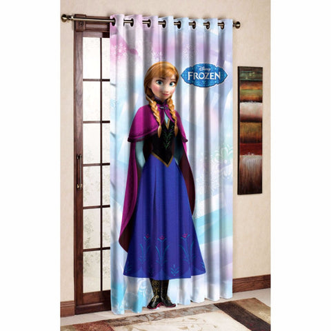 Disney Anna Classic Polyester Curtain Side 3/4th View