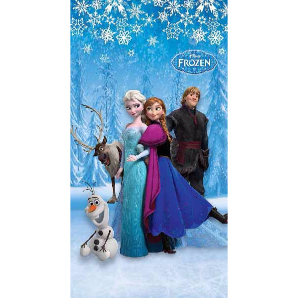 Frozen Snow Polyester Disney cartoon Door and Window Curtain