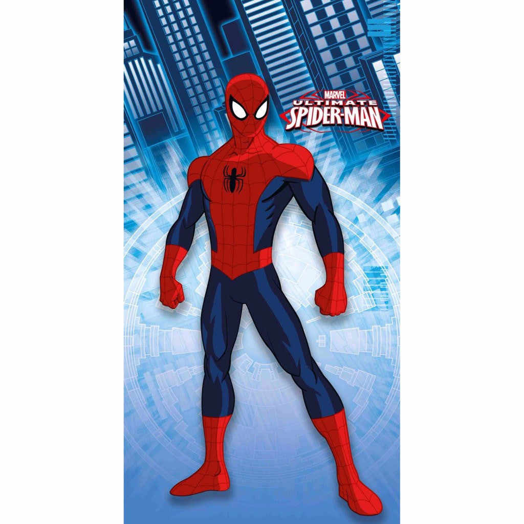 Spiderman Blue Door And Window Curtain Front View