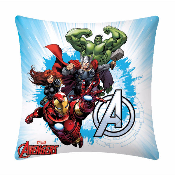 Avengers Polyester Cartoon Cushion Cover- 1 Piece Pack