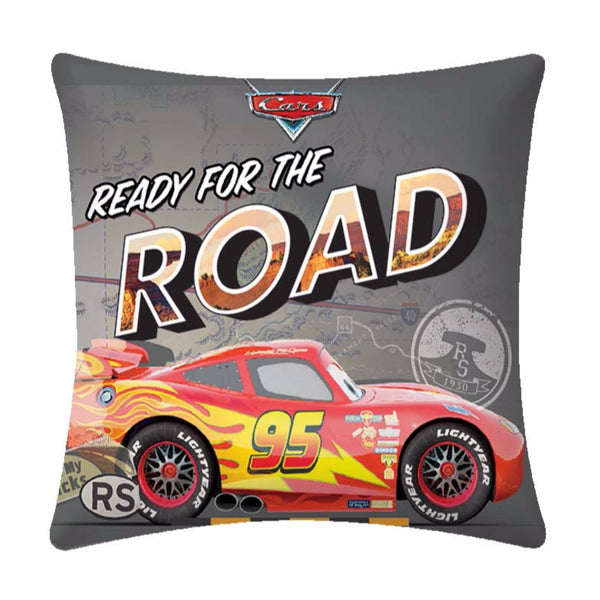 Ready for the Road  Disney Cartoon Cushion Cover- 1 piece pack