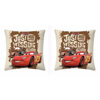 Disney Cars Lightning McQueen Mud Cushion Cover (Pack Of Two) - uber-urban
