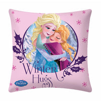 Winter Hugs  Disney Cartoon Cushion Cover- 1 piece pack