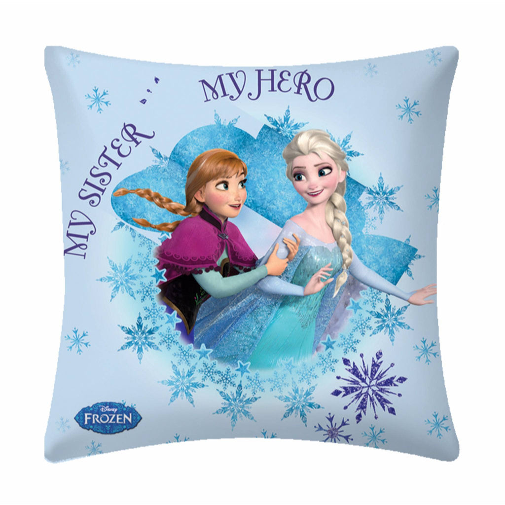 Disney Frozen Sisters Polyester Filled Cartoon Cushion- 1 Piece Pack - Über Urban Cushion