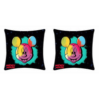 Disney Mickey Mouse Multicolor Cushion Cover - 2 piece pack
