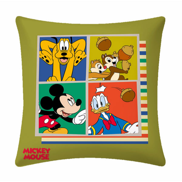 Mickey friends in action Polyester Filled Disney Cartoon Cushion- 1 piece pack - Über Urban Cushion