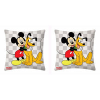 Disney Mickey Mouse And Pluto Square Background Cushion Cover- 2 piece pack
