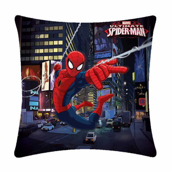 Lightning Spiderman Polyester Cartoon Cushion Cover- 1 Piece Pack