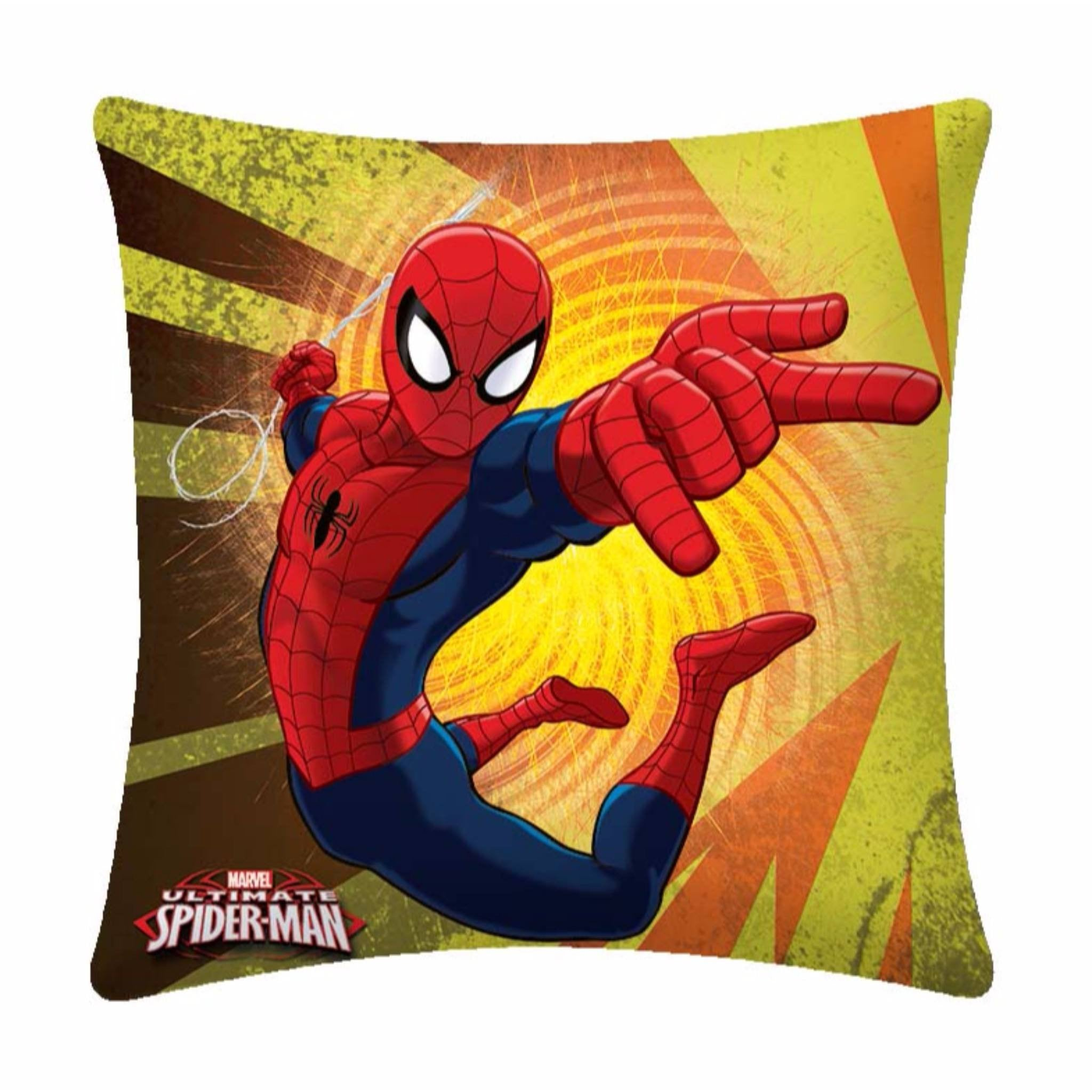 Flying Spiderman Polyester Cartoon Cushion- 1 Piece Pack - Über Urban Cushion