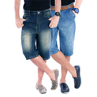 Slate & Light Blue Haiper Shorts (Pack Of Two) - uber-urban