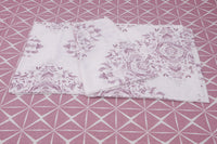 400 Thread Count Printed Pink Bedsheet with 4 Pillow Covers