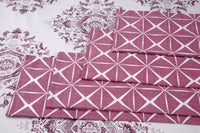400 Thread Count Printed White Pink Bedsheet with 4 Pillow Covers