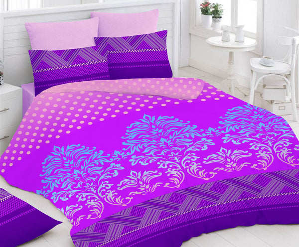 Purple Bed Sheet And Pillow Covers (Queen)