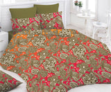 Olive Bed Sheet And Pillow Covers (Queen)