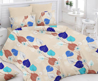 Cream Bed Sheet And Pillow Covers (Queen) - uber-urban