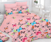 Pink Bed Sheet And Pillow Covers (Queen)
