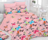 Pink Bed Sheet And Pillow Covers (Queen) - uber-urban