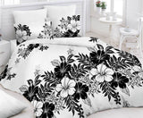 Monochrome Bed Sheet And Pillow Covers (Queen)