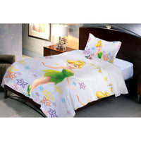 Disney Fairies Tinker Bell  single bedsheet with 1 pillow cover. - uber-urban