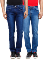Stretchable Regular Fit Denim Jeans - Fly (Pack of 2)