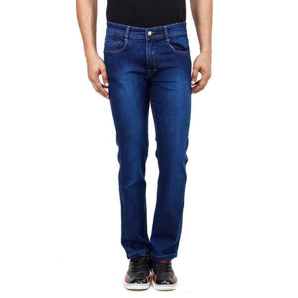 Regular Fit Dark Blue Stretch Denim Jeans - Flym