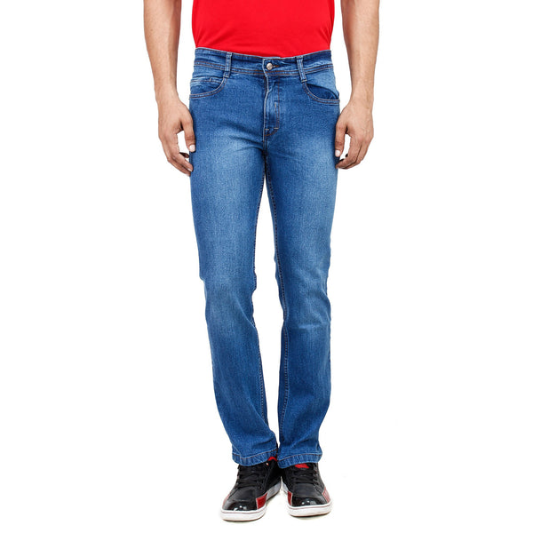 Regular Fit Light Blue Stretch Denim Jeans - Flym