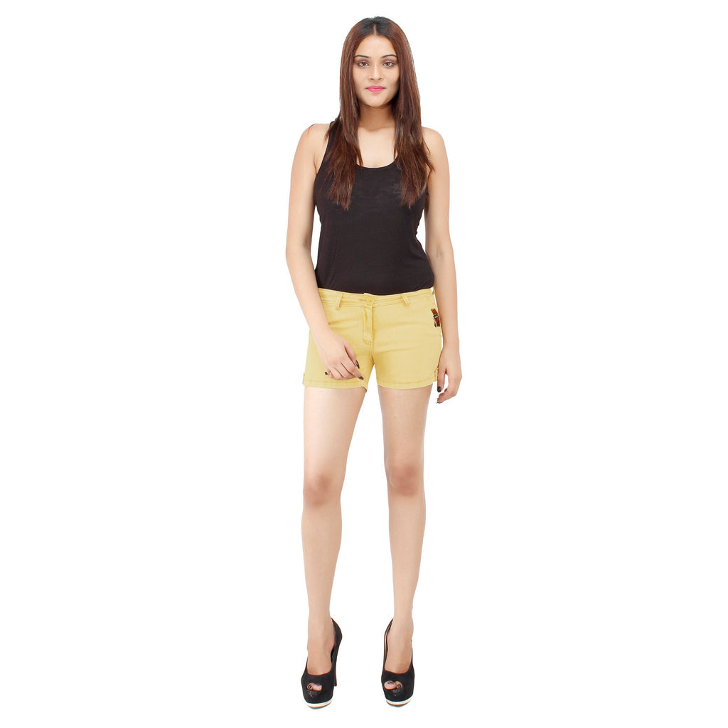 Golden Yellow Frida Shorts - Über Urban Shorts